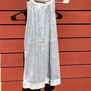 Silver sequins tank top